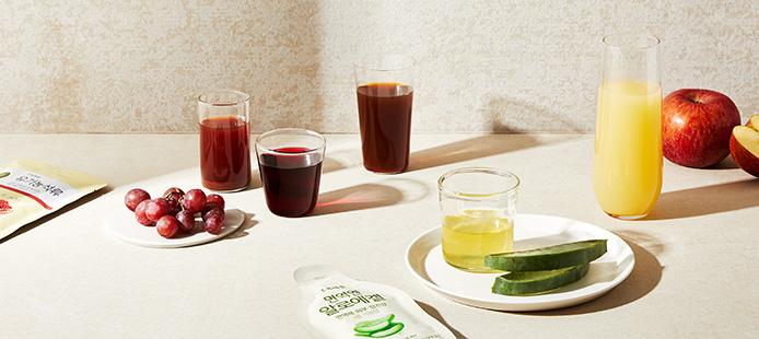수분과 영양보충엔 시원한 건강음료