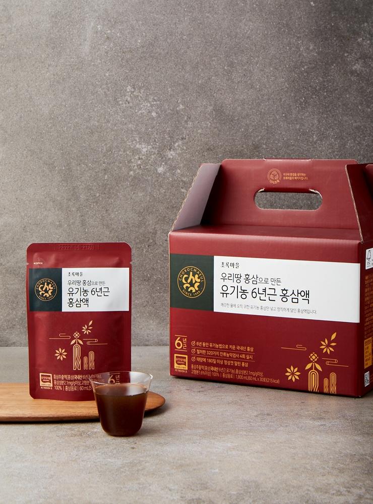 유기농6년근홍삼액(60mLx30포)