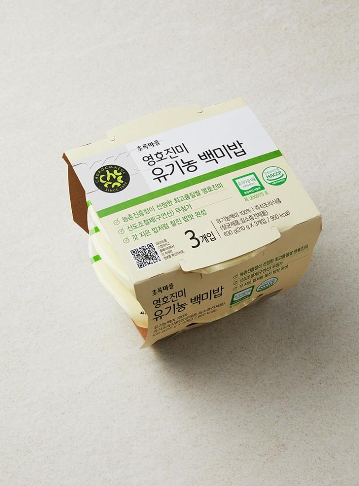 영호진미 유기농백미밥(번들)(210gx3입)