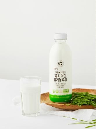 동물복지목장 목초 먹인 유기농우유(750mL)
